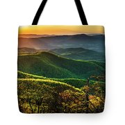 Blue Ridge Sunset Tote Bag