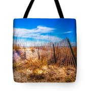 Blue Sky Over The Dunes Tote Bag