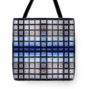 Blue Toned Glass Brick Window Abstract  Tote Bag