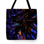 Blue Wormhole Nebula Tote Bag