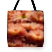 Blurred Seasonal Flowers With Yellow Background Tote Bag