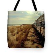 Boardwalk In Winter Tote Bag