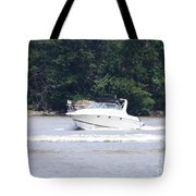 Boat On The Hudson Tote Bag