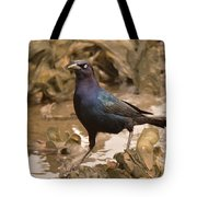 Boat-tailed Crackle Tote Bag