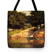 Boating In Central Park Edward Henry Potthast Tote Bag