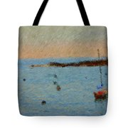 Boats At Smugglers Cove Boothbay Harbor Maine Tote Bag