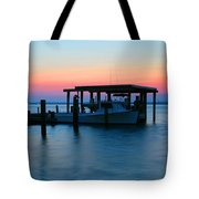 Boats At Sunset Tote Bag