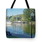 Boats On The Kalamazoo River In Saugatuck, Michigan Tote Bag