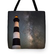 Bodie Island Lighthouse Milky Way Tote Bag