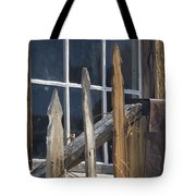 Bodie Picket Fence And Window Tote Bag