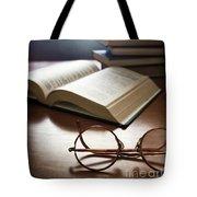 Books And Glasses Tote Bag