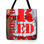 Boston Red Sox Original Typography  Tote Bag