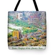 Boston Rooftops And The Charles River Tote Bag