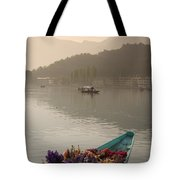 Bouquet Of Flowers In Bow Of Boat Dal Tote Bag