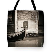 Bow Of A Gondola, Venice, Italy, Europe Tote Bag