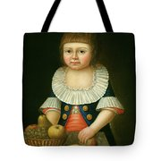 Boy With A Basket Of Fruit Tote Bag