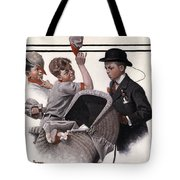 Boy With Baby Carriage Tote Bag