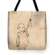 Boy With Bird Tote Bag