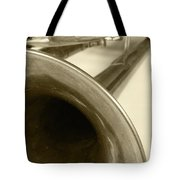 Brass Trumpet Bell And Tubing Tote Bag