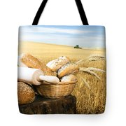 Bread And Wheat Cereal Crops Tote Bag