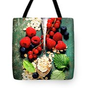 Breakfast With Oats And Berries Tote Bag