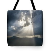 Breaking The Clouds Tote Bag