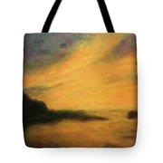 Breakwater Sunset Tote Bag