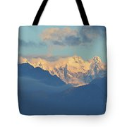 Breathtaking Landscape Of The Dolomites Mountains In Italy  Tote Bag