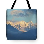 Breathtaking Scenic View Of The Alps In Italy  Tote Bag