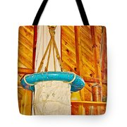 Breeches Buoy In Sleeping Bear Point Boathouse In Sleeping Bear Dunes National Lakeshore-michigan Tote Bag