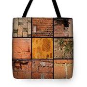 Bricks Collage  Tote Bag
