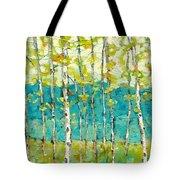 Bright Birches Tote Bag