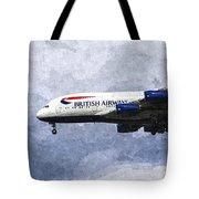British Airways Airbus A380 Art Tote Bag