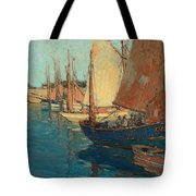 Brittany Boats Tote Bag