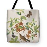 Brown Headed Worm Eating Warbler Tote Bag