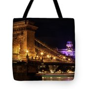 Budapest City By Night Tote Bag