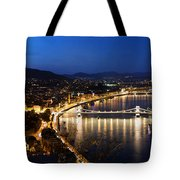 Budapest. View From Gellert Hill Tote Bag by Michal Bednarek
