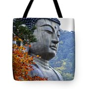 Buddha In Autumn Tote Bag