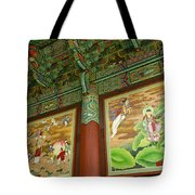 Buddhist Murals Tote Bag