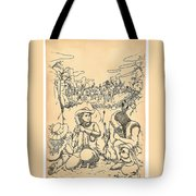 Buffalo Bill And Standing Buffalo Tote Bag