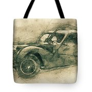 Bugatti Type 57 - Atlantic 3 - 1934 - Automotive Art - Car Posters Tote Bag