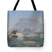 Bulldog Shelling The Forts Tote Bag