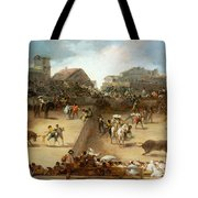 Bullfight In A Divided Ring Tote Bag