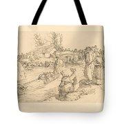 Burial In The Vendeen Marsh (un Enterrement Dans Le Marais Vendeen) Tote Bag