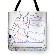 Bus Stop Blues Tote Bag