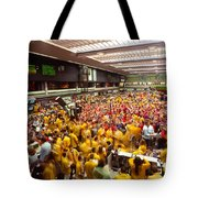 Business Executives On Trading Floor Tote Bag