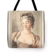 Bust Of A Young Woman Looking Down Tote Bag