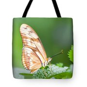 Butterfly On Leaf Tote Bag