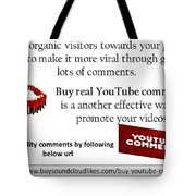 Buy Youtube Comments Tote Bag