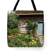 Cabin In The Spring Tote Bag